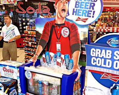 Convenience Store Beer Vendor Display