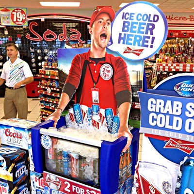 Convenience Store Beer Vendor Display