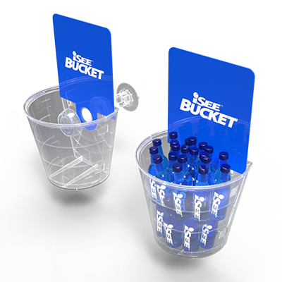 iSee Innovation Suction Cup Bucket Display